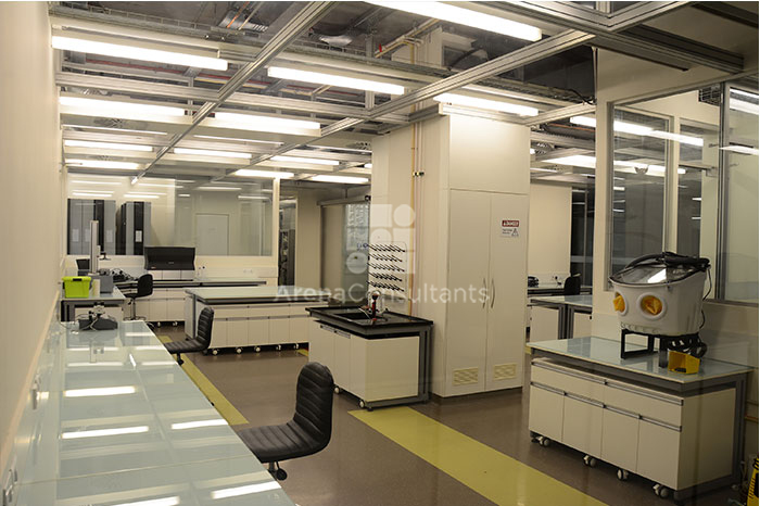 Nora rubberized flooring for laboratory planning