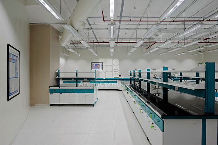 Chemical Lab Project By Arena Consultants Custom Laboratory Furniture Design